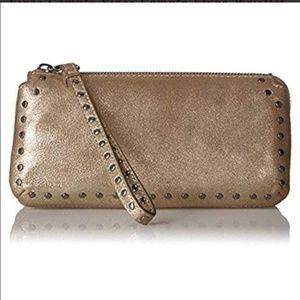 Vince Camuto Elyna Wristlet Wallet studded leather